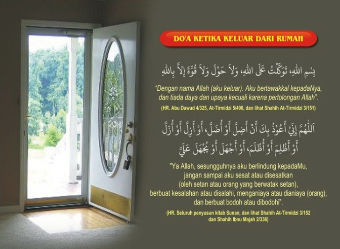 Doa Ketika Keluar Rumah